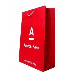 Пакет А5+, 22х16х8 см, печать 4+0, ламинированный